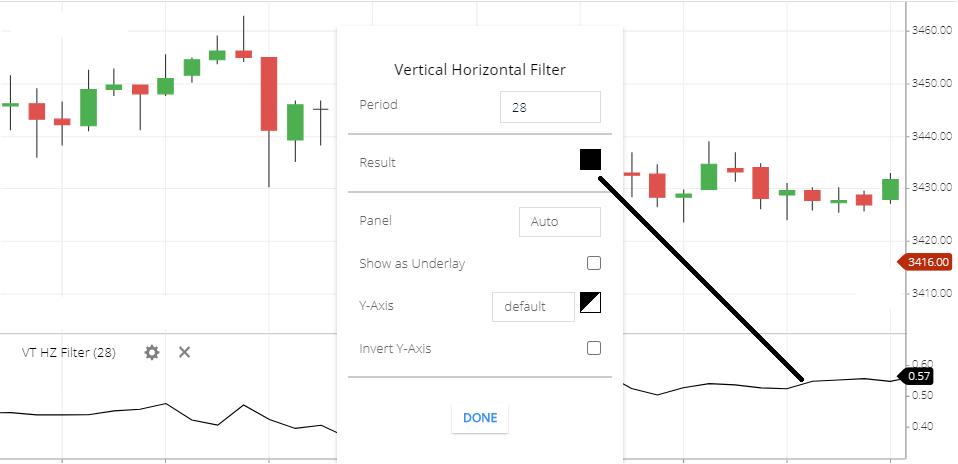 Vertical Horizontal Filter Indicator
